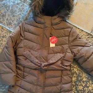 Children's black puffer jacket
